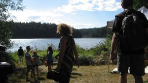 Some of the participants at Cortes Island's 50 Summers of Love