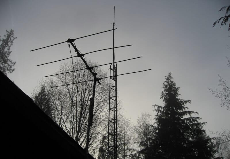 The new tower at CKTZ - Roy L Hales photo
