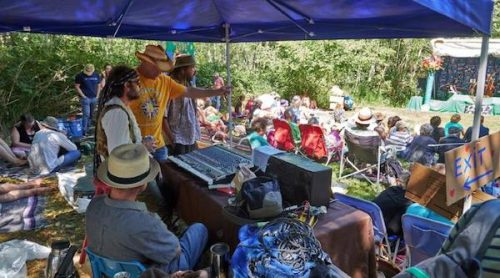 View from the sound are at Cortes Island's 50 Summers of Love - Courtesy Richard Truman from http://www.richardtrueman.com/