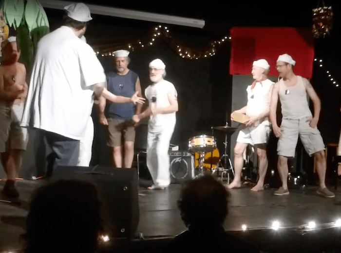 """Screen Shot from the YouTube Video """"Nothin' Like A Dame"""" – Performed at the 2017 Summer Lip Sync"""