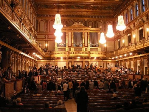 """<a href=""https://commons.wikimedia.org/wiki/File:Musikverein_Wien1.JPG"" target=""_blank"" rel=""noopener"">Musikverein Wien, Großer Saal</a>"" by Welleschik via wikipedia (CC BY SA, 3.0 License)"