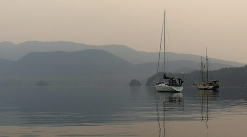 BC Wildfire Service's Visit To Cortes Island