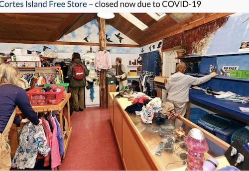 The Cortes Island's Free Store