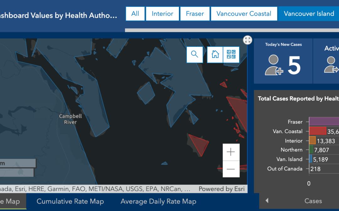 data from BC COVID 19 Dashboard